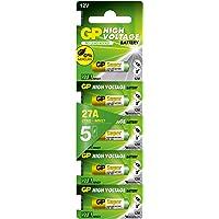 Gp Batteries Gp27A Süper Alkalin 27A/Mn27 Boy Pil, 12 Volt, 5'Li Kart