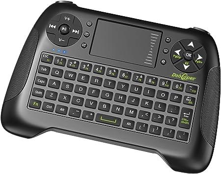 Dootoper inalámbrico Wireless Mini teclado con ratón touchpad / 10/76 metros de ámbito de teclas (2