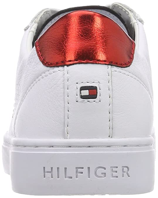 Amazon.com | Tommy Hilfiger Tommy Star Metallic Sneaker Womens Trainers White Red - 40 EU | Fashion Sneakers