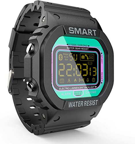 LOKMAT Sports Digital Smart Watch Men Boys Waterproof Bluetooth Smartwatch,Fitness Tracker with Pedometers,Remote Camera,Call SNS SMS Reminder for iOS and Android
