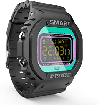 LOKMAT Sports Digital Smart Watch Men Boys Waterproof Bluetooth Smartwatch,Fitness Tracker with Pedometers,Remote Camera,Call/SNS/SMS Reminder for iOS ...