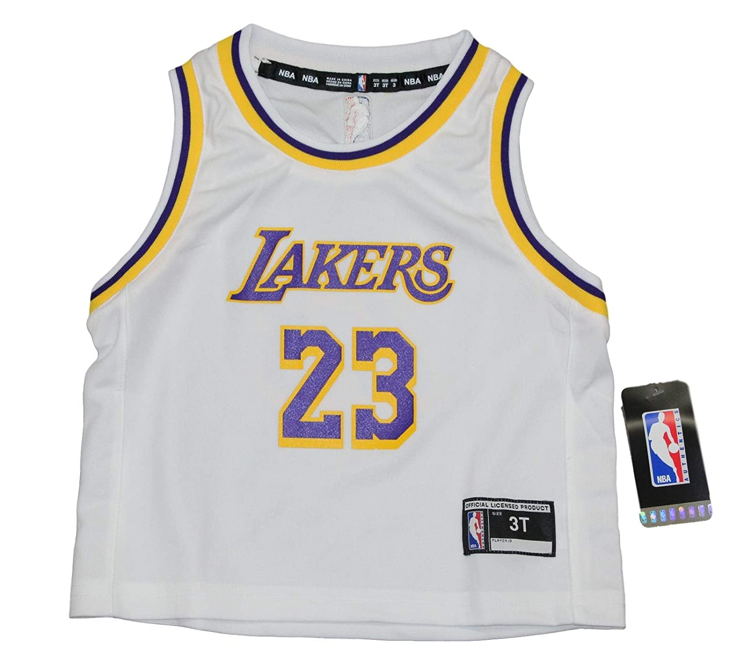 d1099350328 Amazon.com   Outerstuff Lebron James Los Angeles Lakers Toddler NBA Replica  Jersey - White   Sports   Outdoors