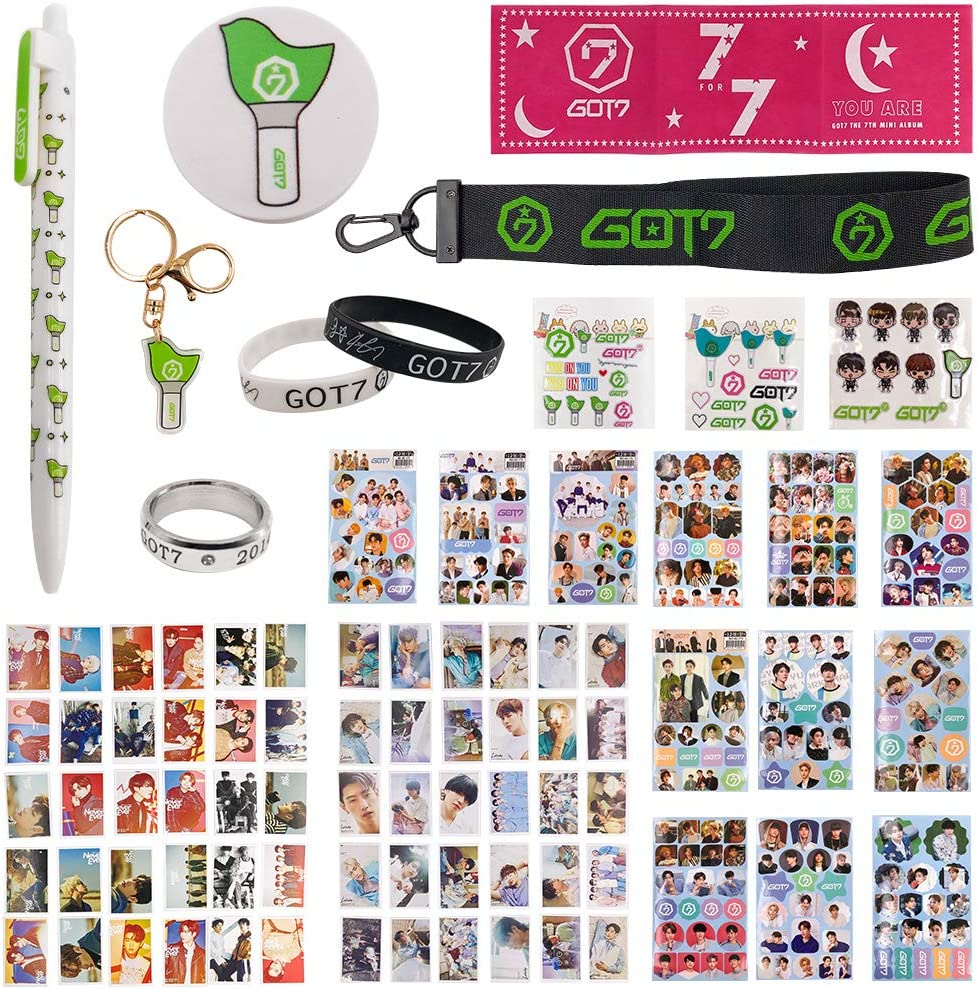 Fatyi Got7 Gift Set with Lomo Card, Keychain, Ring, Lanyard, 3D Sticker, Sticker, Pen, Wristband, Banner, Phone Stand