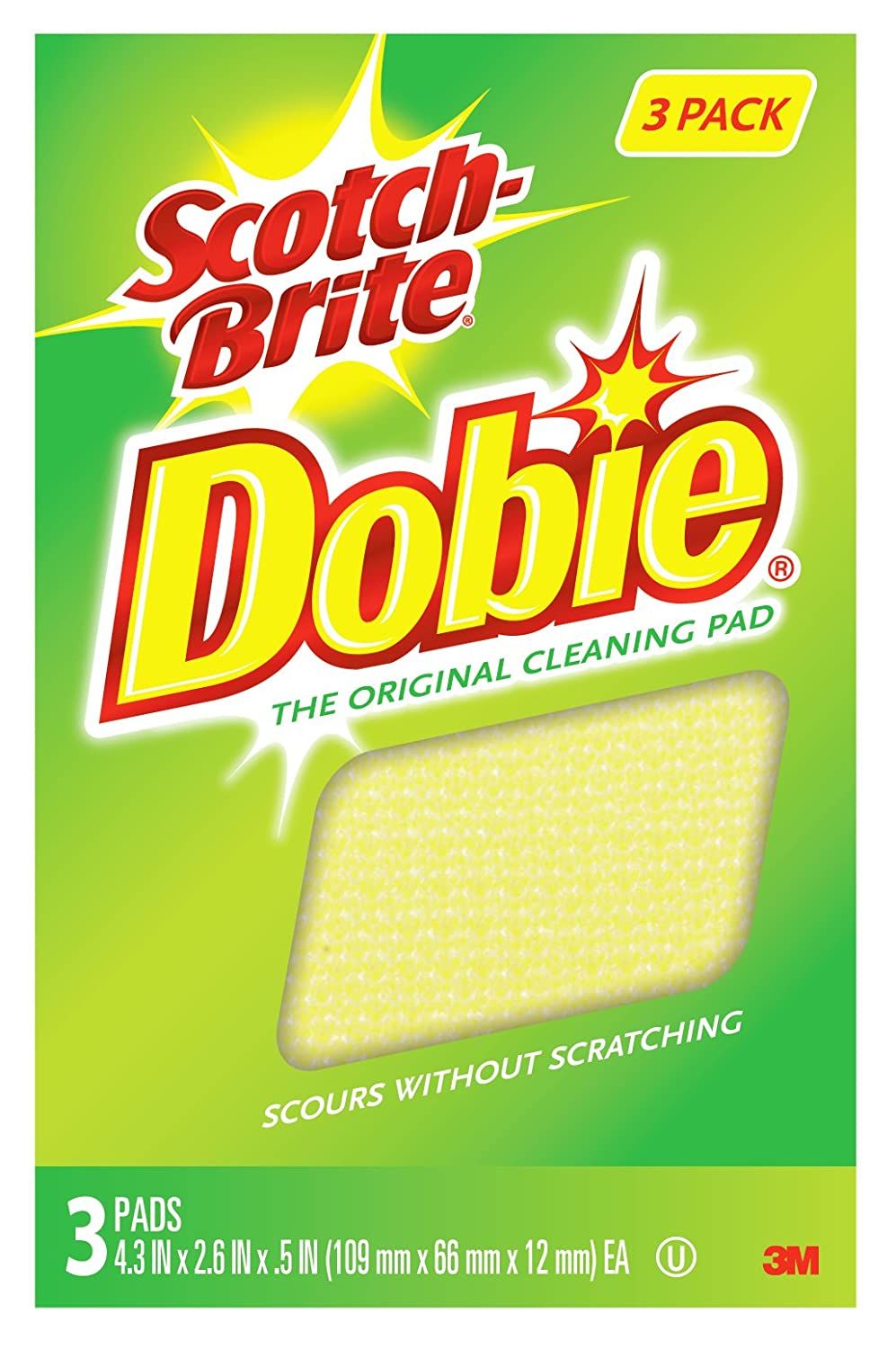 MMM7232F - Scotch-Brite Dobie All Purpose Cleaning Pad