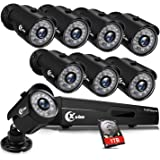 XVIM 8CH 1080P Security Camera System Outdoor with 1TB Hard Drive Pre-Install CCTV Recorder 8pcs HD 1920TVL Outdoor Home…