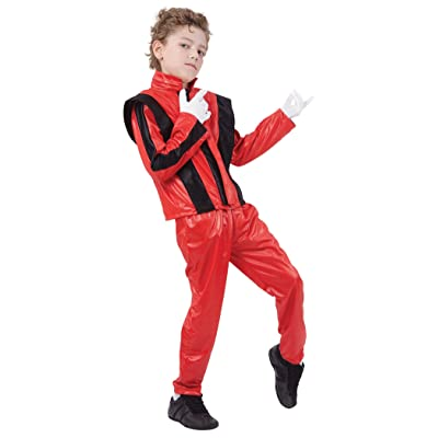 Bristol Novelty CC817 Superstar Jacket/Trousers, Small, Red, Approx Age 3 -5 Years, Superstar. Red Jacket/Trousers (S): Toys & Games