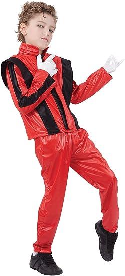 Oferta amazon: Bristol Novelty CC818 Pantalones/Chaqueta de Super Estrella, Mediano, Rojo, Edad aprox 5-7 años