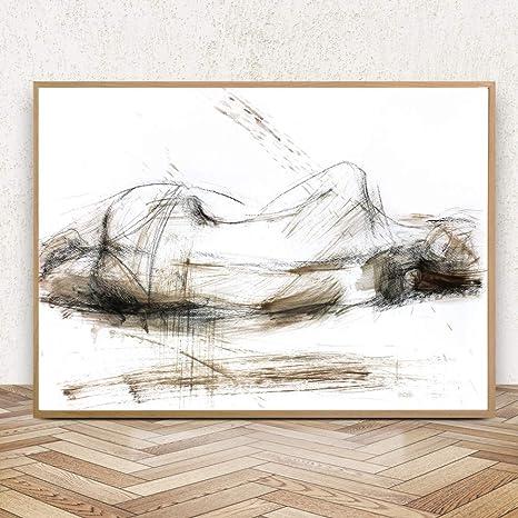 Suuyar Donna Nuda Schizzo Poster E Stampe Camera Da Letto ...