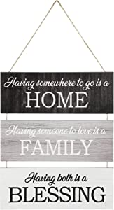 Home Family Blessing Hanging Wooden Sign Having Somewhere to Go is a Home Wooden Plaque Rustic Home Family Blessing Hanging Sign Home Family Blessing Wood Wall Decor for Farmhouse Living Room Bedroom