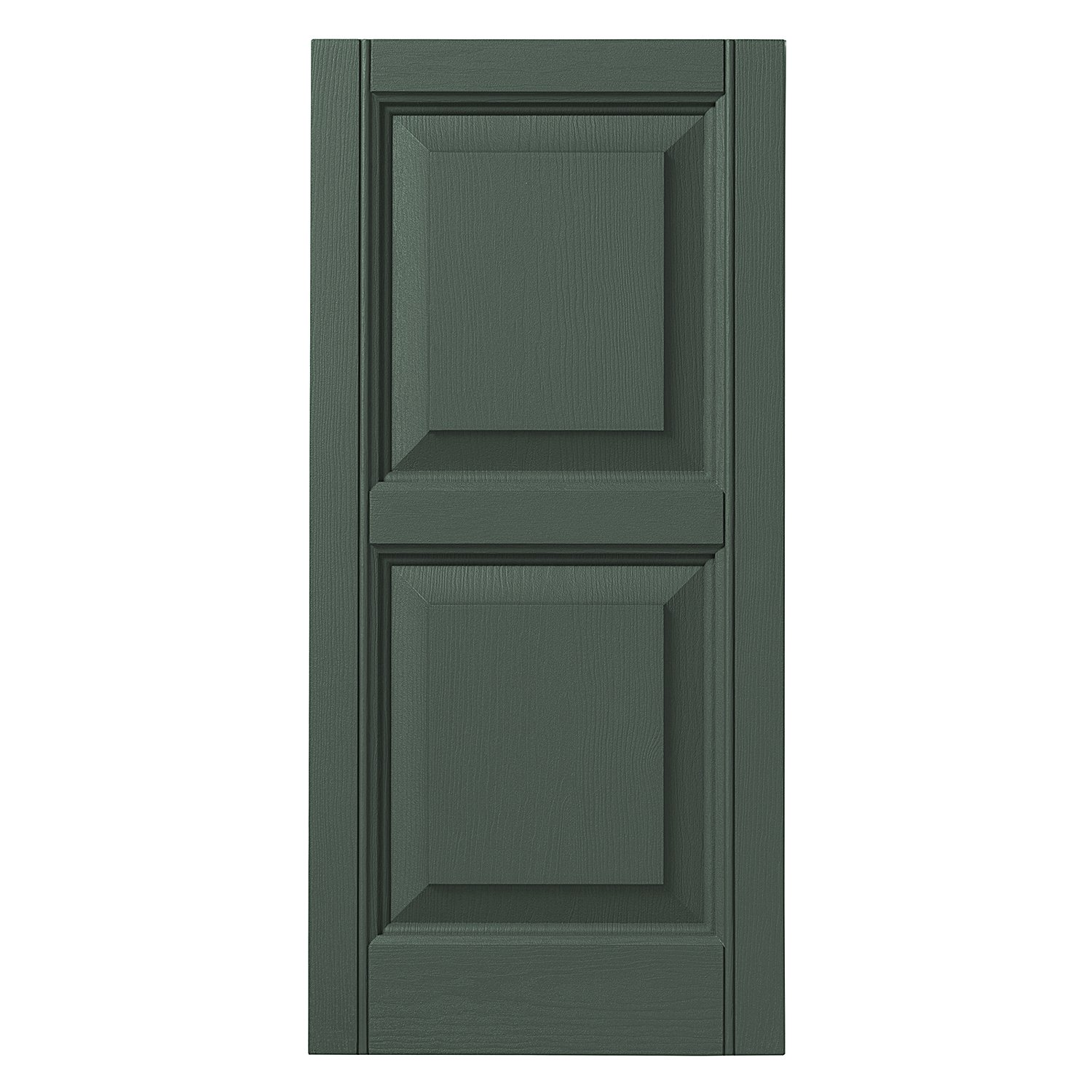 Ply Gem Shutters and Accents VINRP1243 55 Raised Panel Shutter, 12'', Green