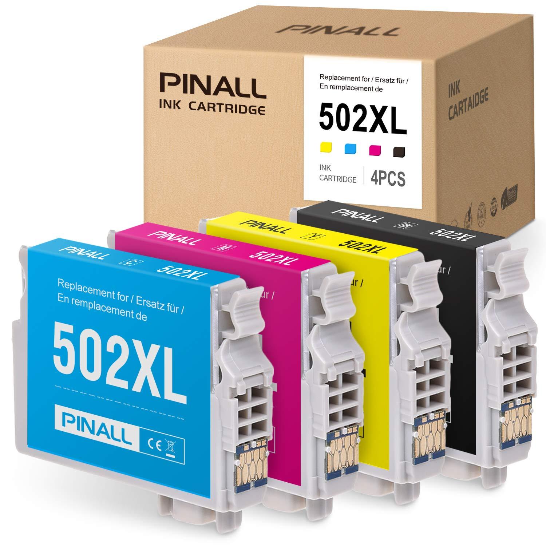 PINALL 4 Epson 502XL 502 XL Cartuchos de Impresora compatibles con ...