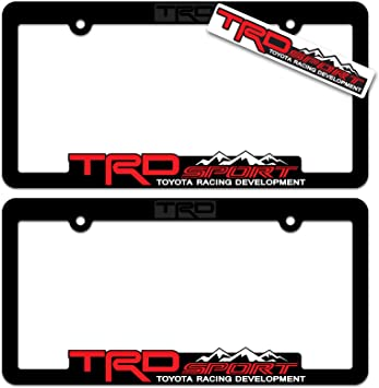 Screw Cap 1x ////TRDSPORT 3D Emblem STAINLESS STEEL License Plate Frame RUST FREE
