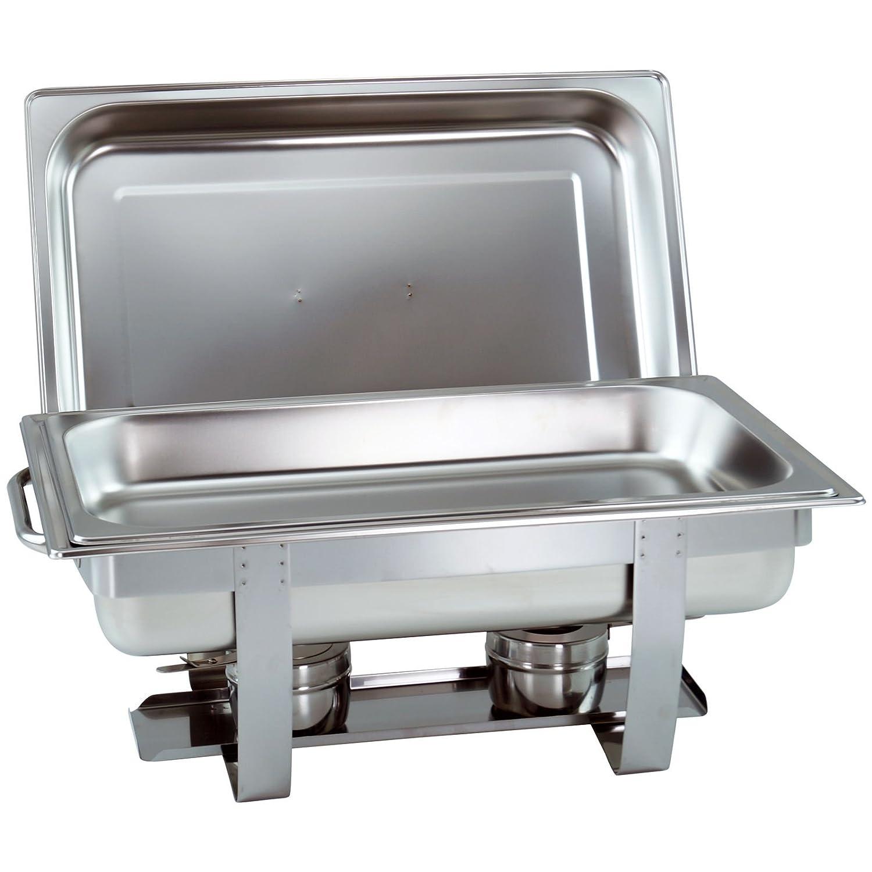 Juego de 4calentador de platos Chafing Dish con depósito de 1/1GN 65mm de profundidad apilable con tiradores redondos Gastrovertriebskontor GmbH