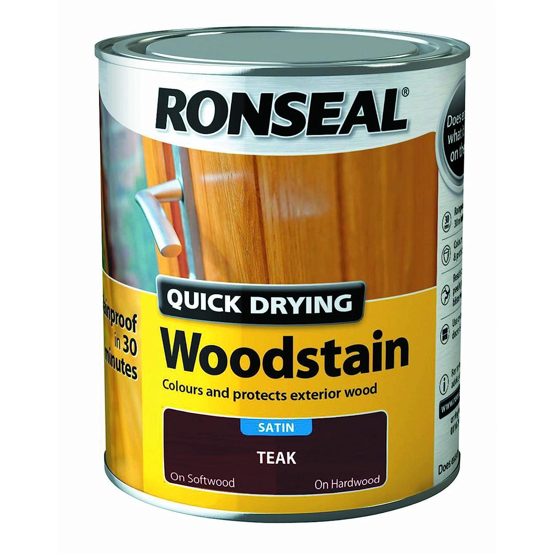 Ronseal Quick Drying Woodstain Teak Satin 750ml 08734