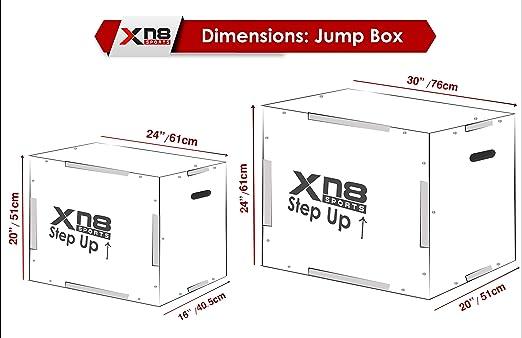 Xn8 Caja de Salto pliométrica- Pliometrico de Madera Caja - cajón para Saltos - Wood Plyobox Apta Gimnasio Profesional o Entrenamiento al Aire Libre ...