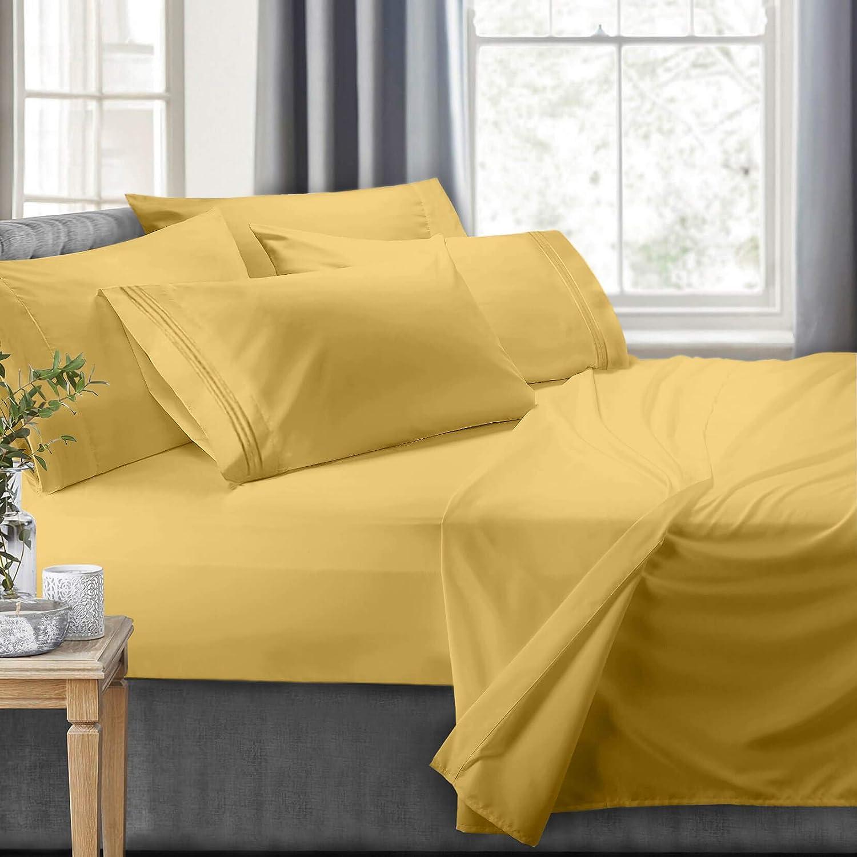 Clara Clark RV Short Queen Yellow Bed Set