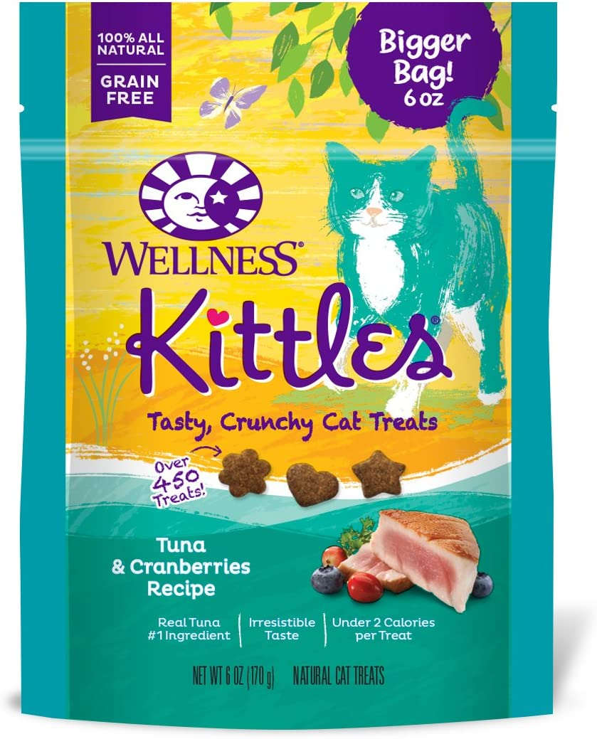 Wellness Kittles Cat Treat Value Pack – Tuna Cranberries Flavor – 6 oz Each 4 Pack