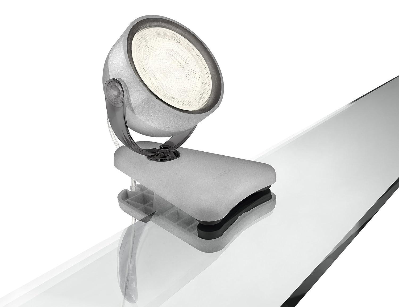 Philips MyLiving Foco LED 532319916 con Pinza Dyna Potencia 3 W Color Gris [Clase de eficiencia energética A] 532319926 foco halogeno 1000w foco halogeno 400w foco iluminacion