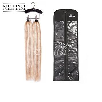 Amazon neitsi ks wigs wooden hair extensions storage neitsi ks wigs wooden hair extensions storage carrier suit case bag plus hanger for virgin pmusecretfo Image collections