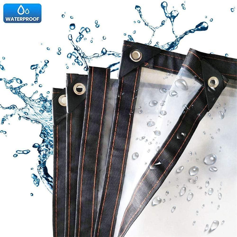 NOEzyf Cubierta de Lona, Lona de película de plástico PVC Impermeable Transparente