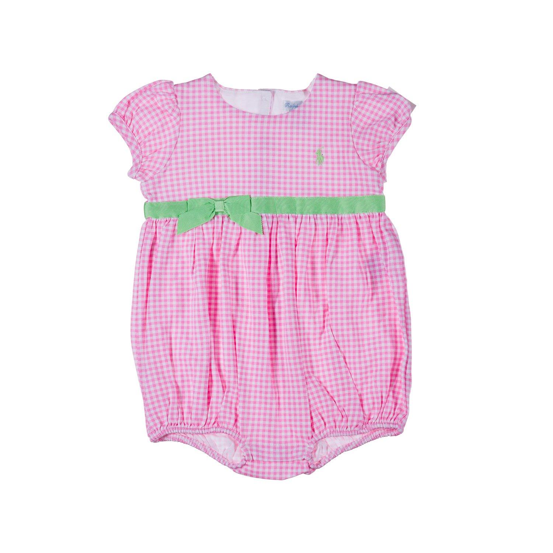 Ralph Lauren Baby Pelele Mono Verano Jumpsuit Color Rosa niña 92: Amazon.es: Bebé
