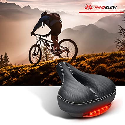 Bicycle Front Seat Bike Pad Comfortable Saddle /& Waterproof Rear Taillight