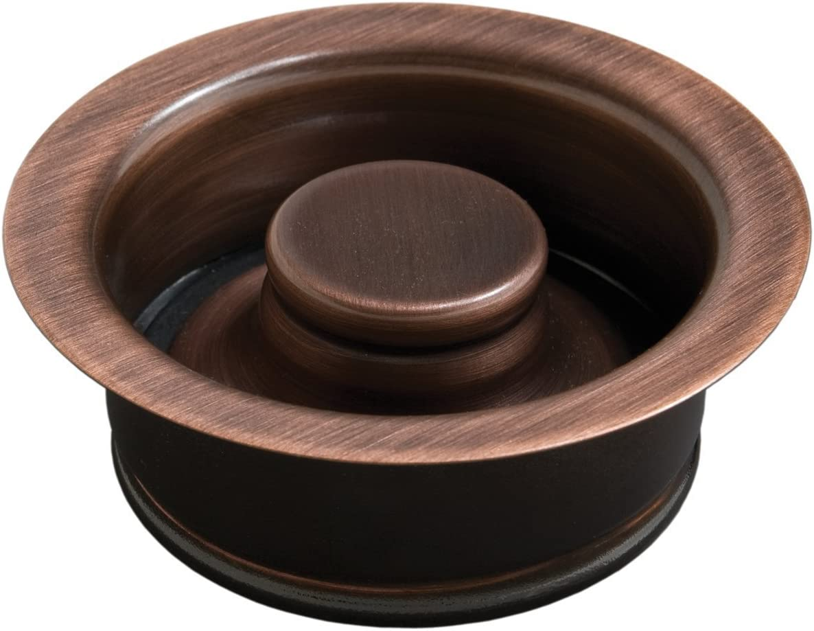 ISE Garbage Disposal Flange Drain Solid Brass with Stopper, Looks Great On Copper Sinks (Antique Copper)