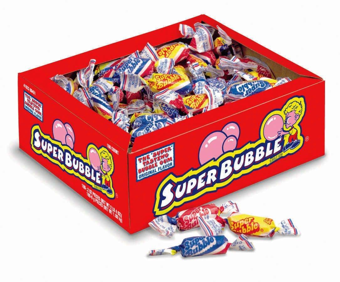 Super Bubble Bubble Gum Original Flavor (180 count)