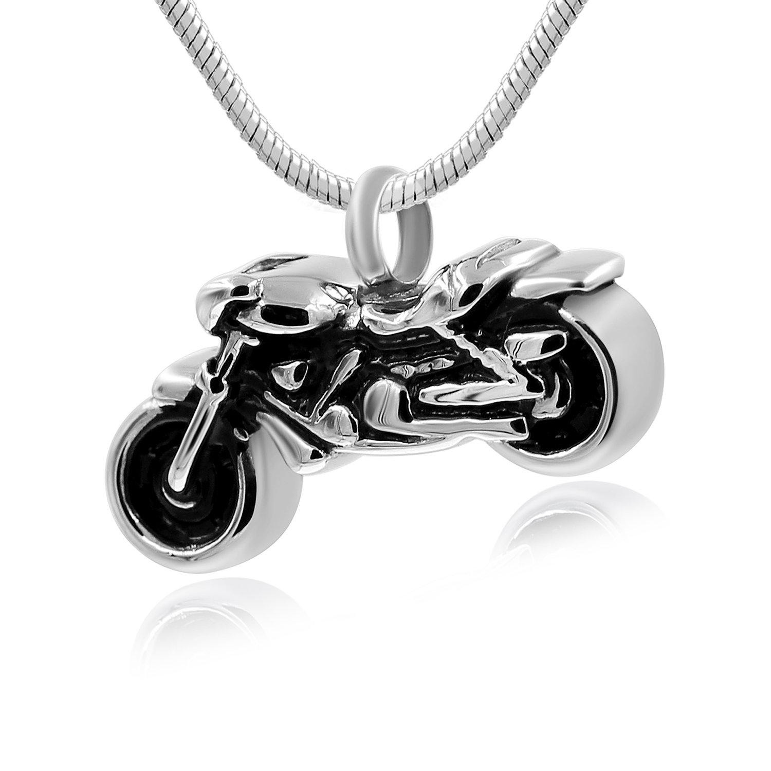 Hufan Motorcyle Cremation Jewelry for Ashes with Funnel and Chain by Hufan (Image #1)