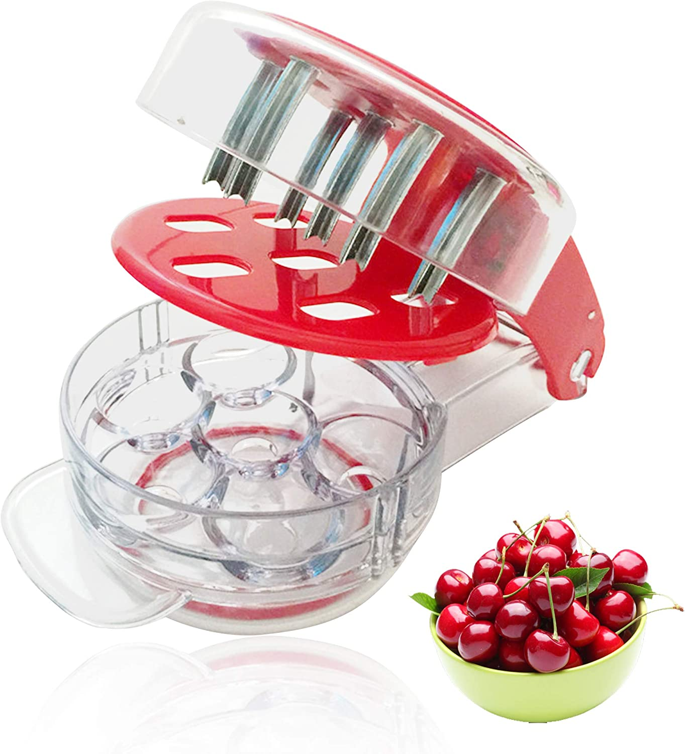 Hovely Cherry Pitter GPC-5100 Cherry Pitter Stoner Seed and Olive Tool Remover Cherry Stone Remover