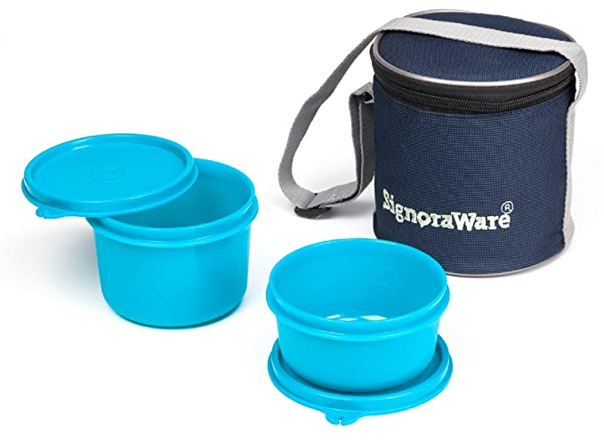 Signoraware Executive Small Lunch Box with Bag, 15cm, T Blue