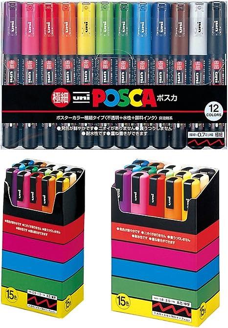 uni-posca Paint Marker Pen, Bundle Set. Extra Fine Point/punto de ...