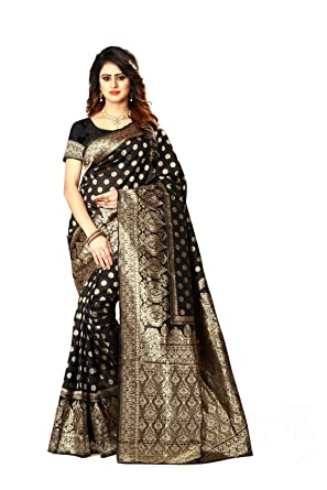 11f14fdf202 Women's Banarasi Silk Saree Indian Wedding Ethnic Sari & Unstitch Blouse  Piece PARI 22