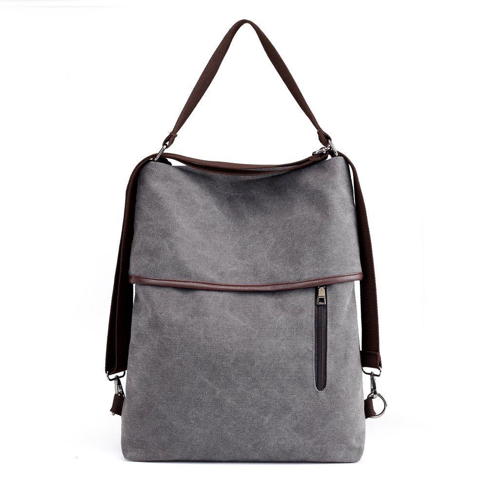 Vintage Women Canvas Shoulder Bag Tote Casual Multifunctional Backpack