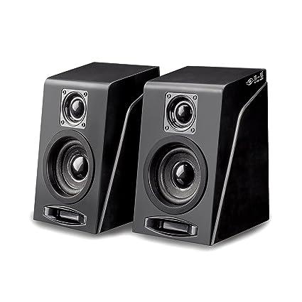 Desktop Computer Speakers USB Powered Wired Bookshelf Multimedia Stereo Sound For Laptop