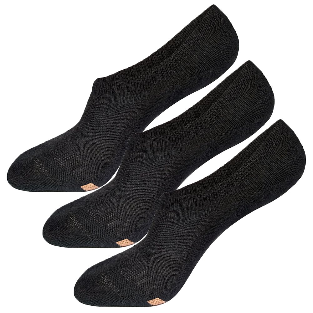Tisoks 3 Pairs Unisex Titanium Antibacterial Odor Free Sweat Wicking No Show Boat Socks by Tisoks