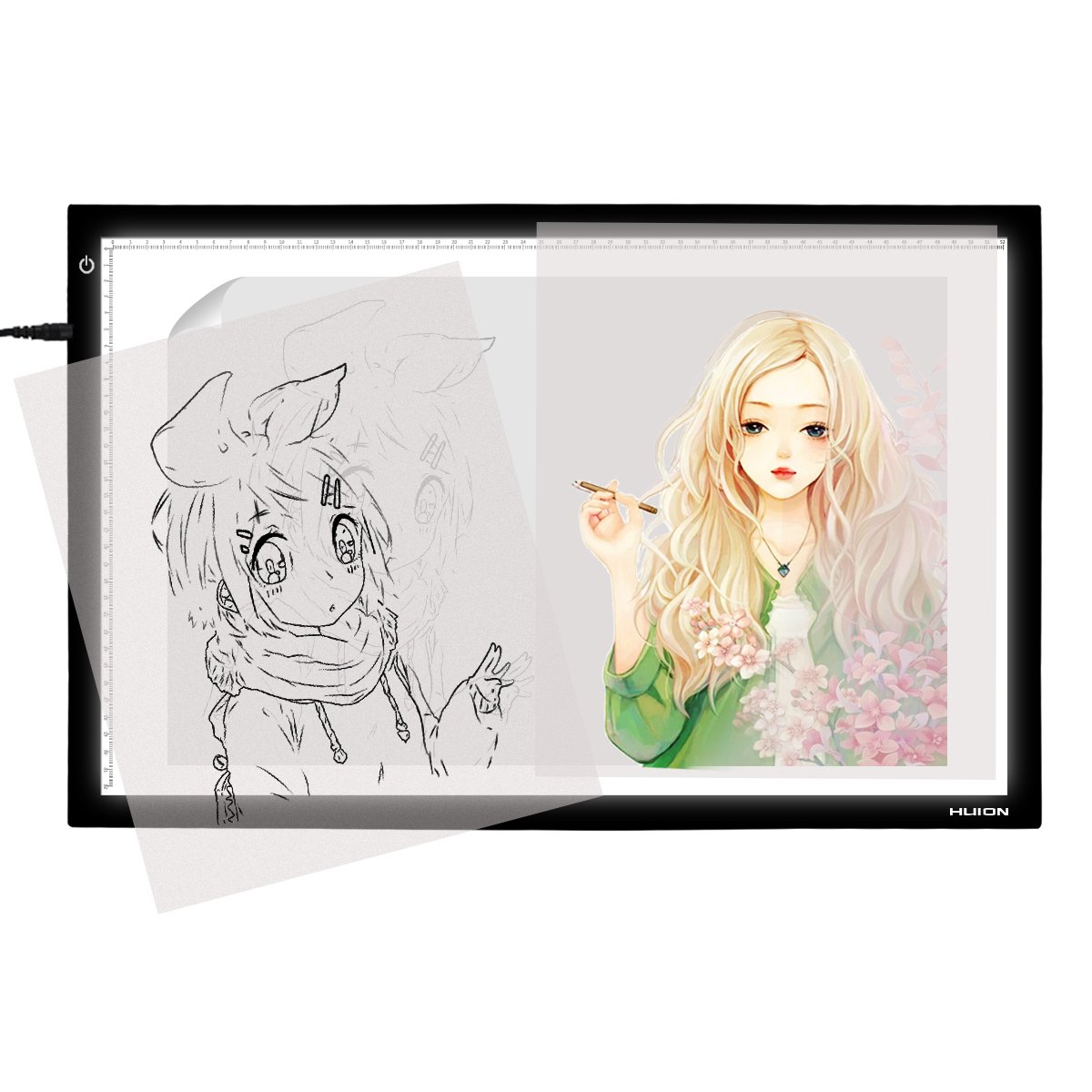 Huion 17.7 Inches LED Light Pad Light Box Shenzhen Huion Animation Technology Co. LTD Black-A4