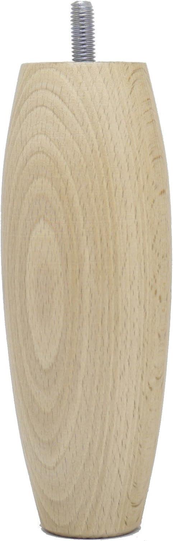 La fabrique de Patas am20170102/Juego de 4/pies de Cama Aceitunas Madera de Cerezo Barnizado 15/x 6/x 6/cm