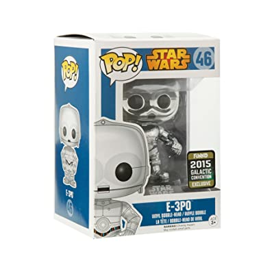 Funko Pop! Star Wars E-3P0 CHROME 2015 Galactic Convention Exclusive: Toys & Games