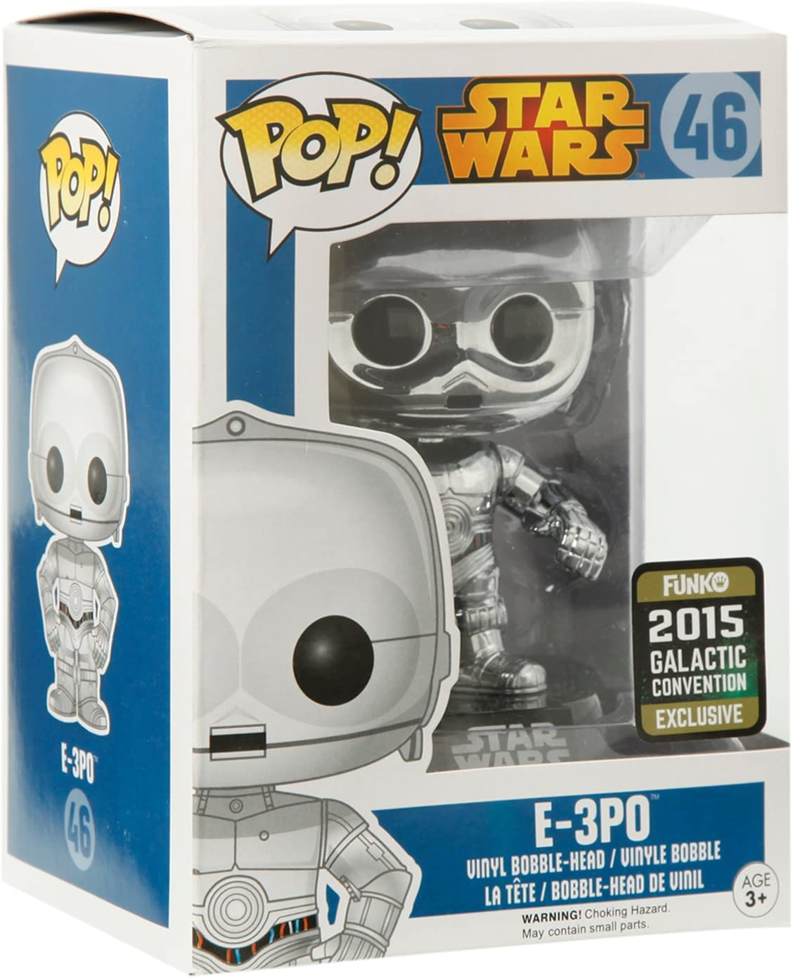 Funko Pop! Star Wars E-3P0 CHROME 2015 Galactic Convention Exclusive