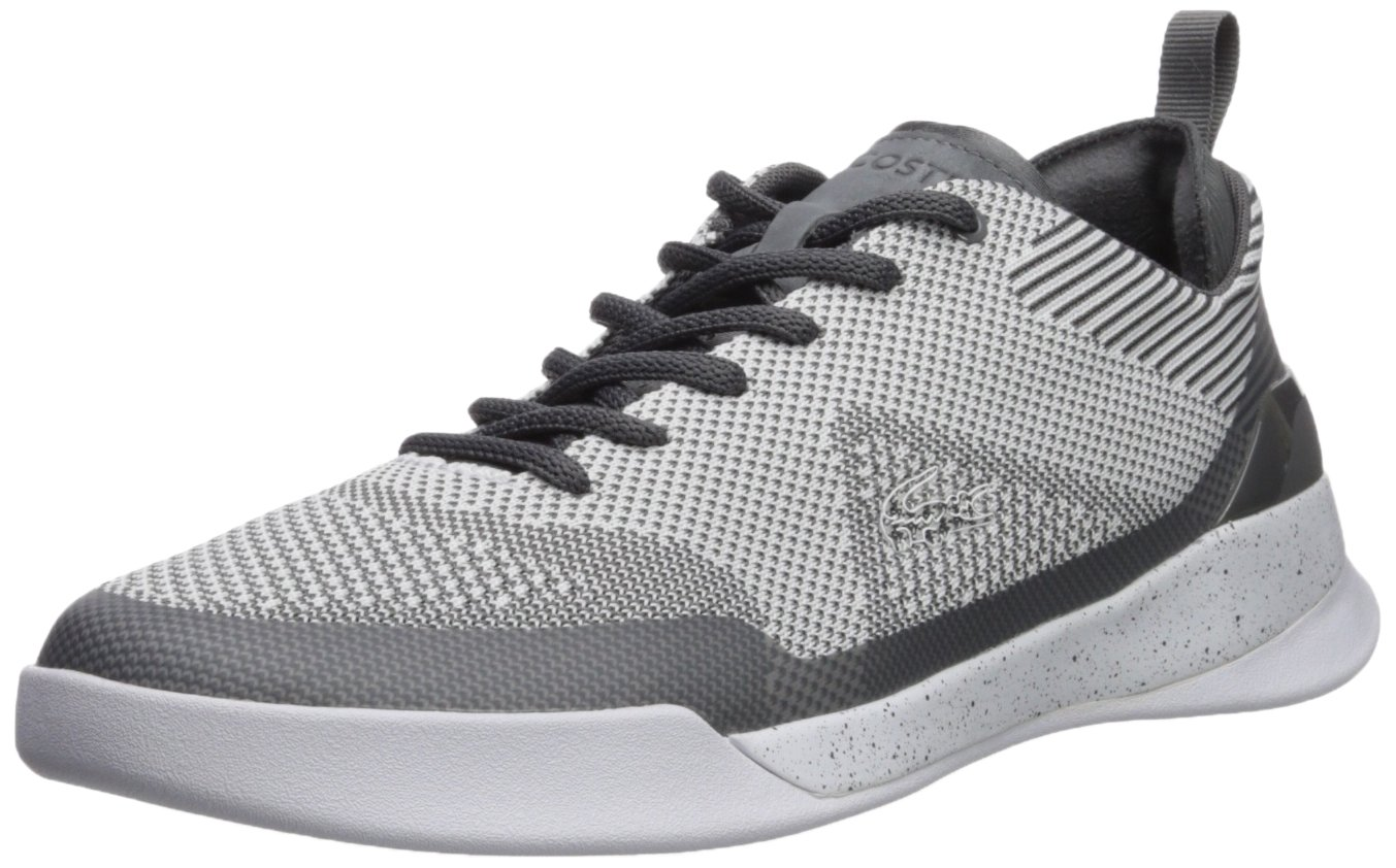 Lacoste Men's LT Dual Elite Sneaker, Dark Grey, 8.5 M US