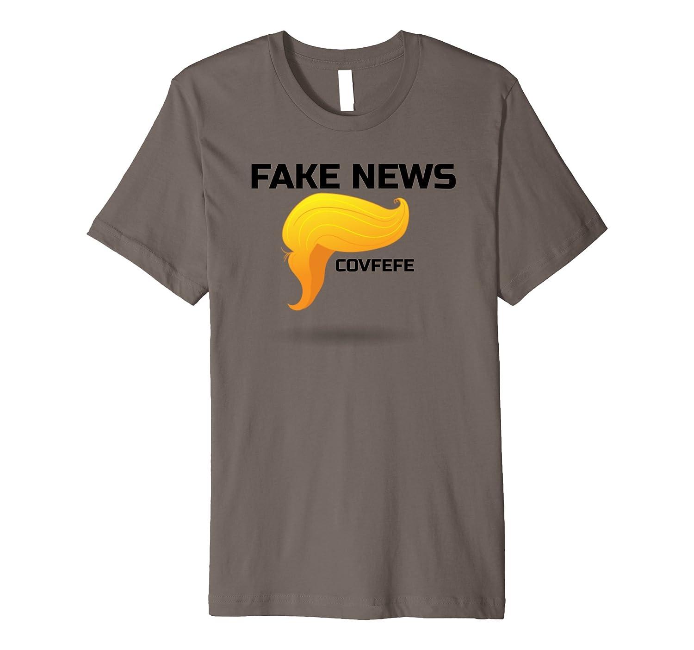 """""""Fake News"""" Trump Hair """"Covfefe"""" Presidential Fun T-Shirt"""
