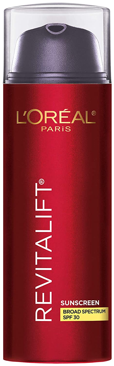 Face Moisturizer With Spf 30 By L'oréal Paris Skin Care I Revitalift Triple Power Anti-Aging Face Lotion With Spf 30 Sunscreen, Pro Retinol, Hyaluronic Acid & Vitamin C I 1.7 Oz