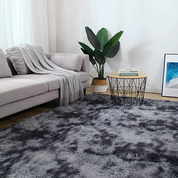 5X8 Dark Grey Modern Home Decorate Area Rugs for Living Room, Bedroom, Bathroom, Fluffy Indoor Carpet Christmas Thanksgiving Gift Rugs