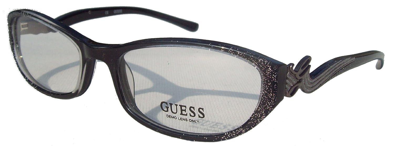 bd42d14818c GUESS Designer Eyewear Eyeglasses Spectacles Glasses Frames GU 2245 BLK  Black Sparkle  Amazon.co.uk  Clothing