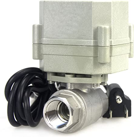 HSH-Flo 2 Way 1//2 3//4 1 1-1//4 110-230VAC Brass On//Off Auto Return Electrical Position Feedback Motorized Ball Valve 1//2 Inch