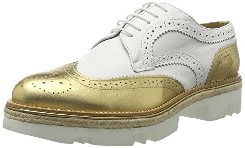 Wing Cap, Zapatos Oxford Para Mujer, Blanco, EU 39 British Passport