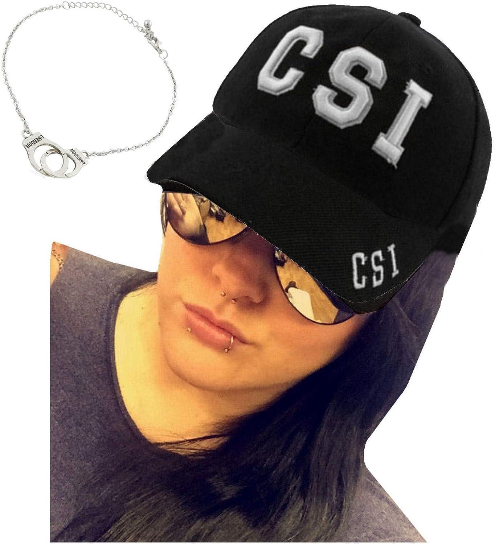 Gorra de policía CSI + gafas de sol de aviador + brazalete de mano: Amazon.es: Ropa y accesorios