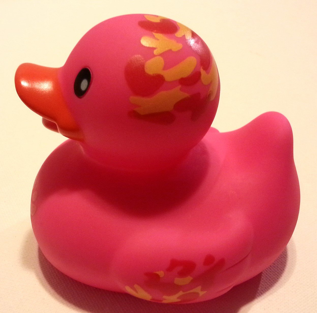 Amazon.com: Pink Camo Rubber Ducky by Infantino: Toys & Games