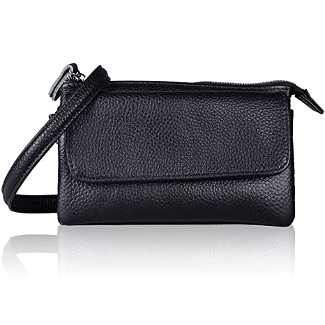 6db27463d027 Soft Leather Women Smartphone Wristlet Wallet Clutch Purse Cross Body Bag  with Credit Card Slots